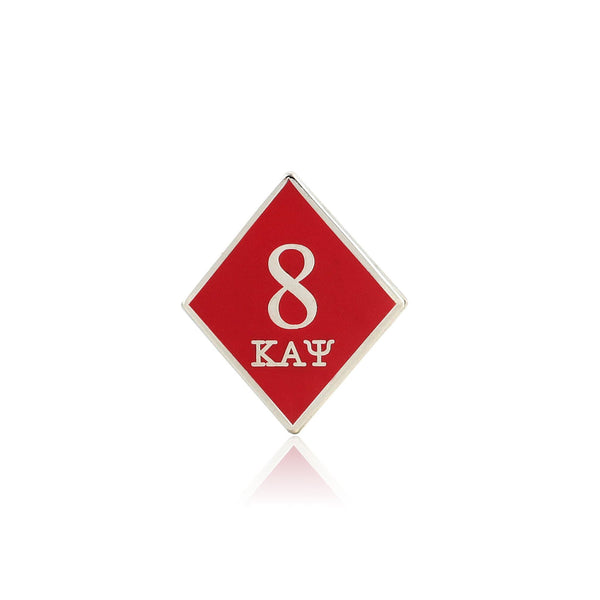 Kappa Alpha Psi 8 Klub Diamond Lapel Pin
