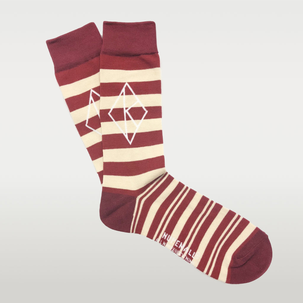 Kappa Alpha Psi Diamond K Striped Socks