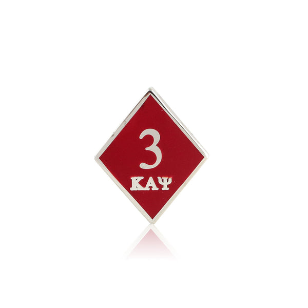 Kappa Alpha Psi Diamond Tre Klub Lapel Pin