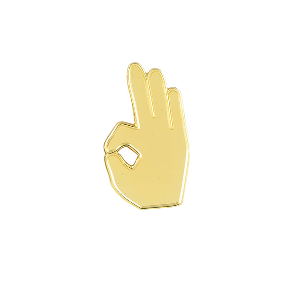Kappa Alpha Psi YO Hand Sign Lapel Pin (Gold)