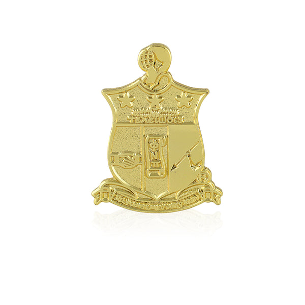 Kappa Alpha Psi Coat of Arms Lapel Pin (Gold)