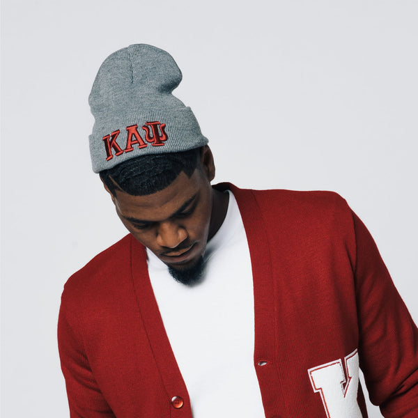 7c22f2938a2 Kappa Alpha Psi Greek Letter Knit Beanie Cap (Grey)