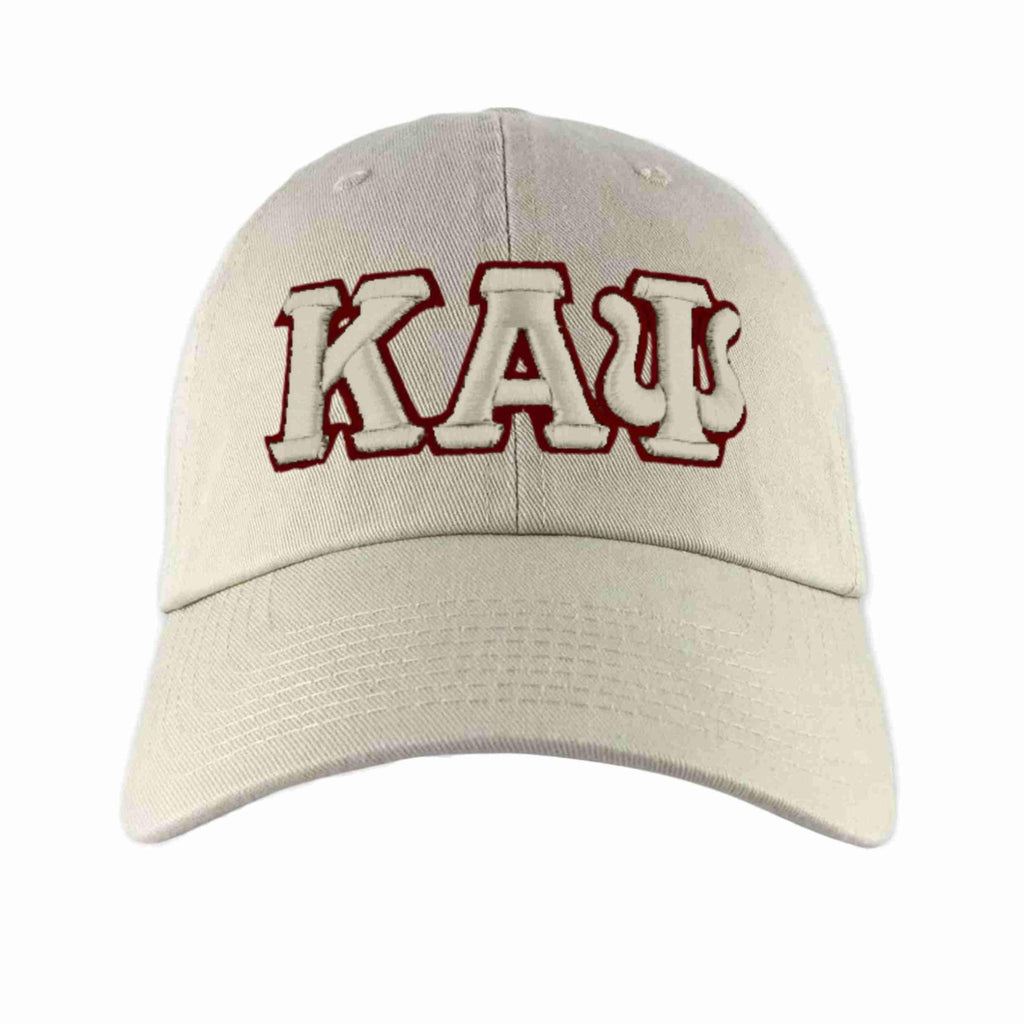 Kappa Alpha Psi Greek Letter Adjustable Dad Cap (Krimson or Cream)