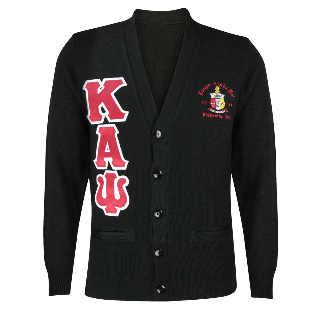 0cca0e3780a Kappa Alpha Psi Greek Letter Cardigan Sweater (Black) – Nupemall