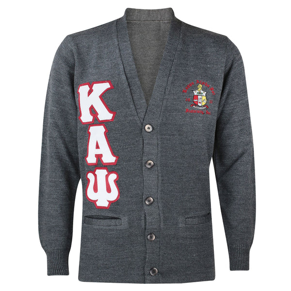 799aa0795e6 Kappa Alpha Psi Greek Letter Cardigan Sweater (Charcoal) – Nupemall