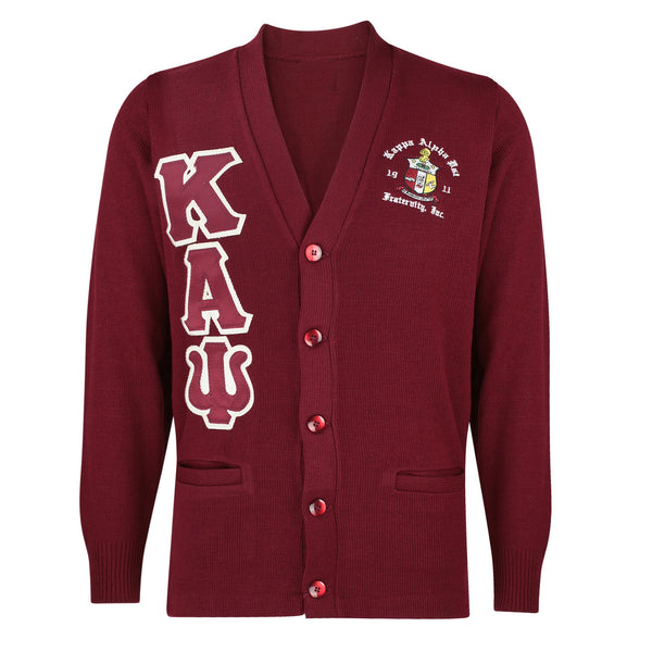 Kappa Alpha Psi CUSTOM Greek Letter Cardigan Sweater (Krimson)