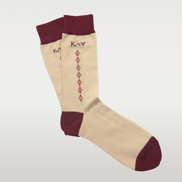 Kappa Alpha Psi Greek Letter Diamond Socks