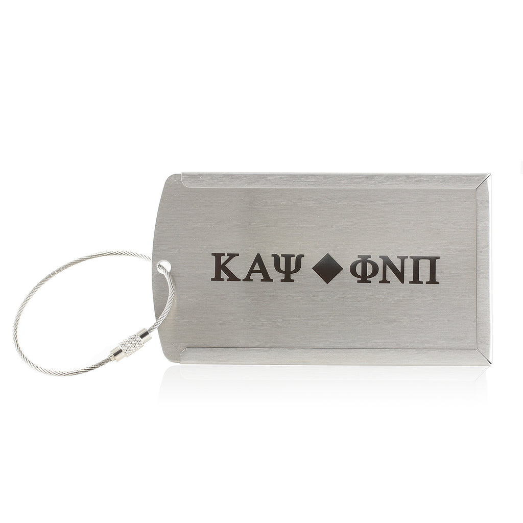 Kappa Alpha Psi Phi Nu Pi Metal Luggage Tag