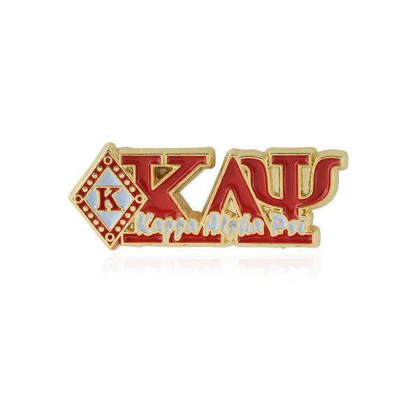 Kappa Alpha Psi Diamond K Greek Letter Script Lapel Pin