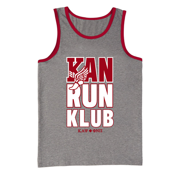 Kappa Alpha Psi Kappa Alpha Nu Run Klub Ringer Tank Top
