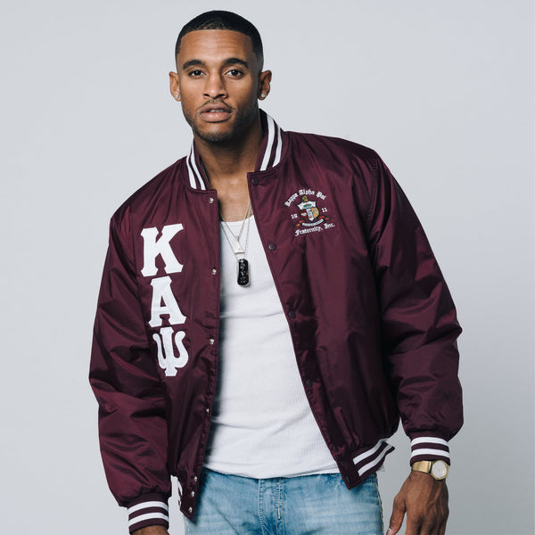 Kappa Alpha Psi Baseball Jacket (Krimson)