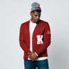 Kappa Alpha Psi CUSTOM Greek Letter Cardigan Sweater (Krimson & Cream)