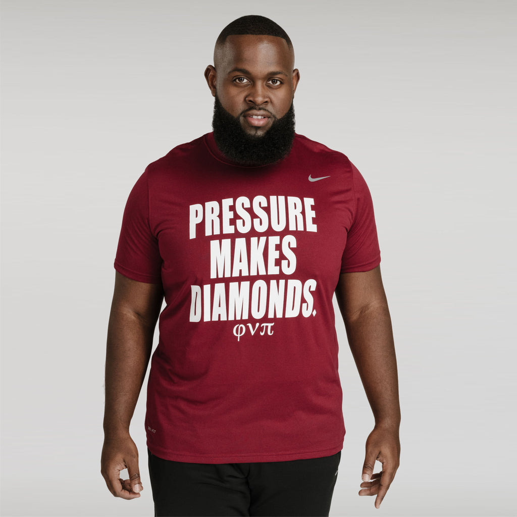 Kappa Alpha Psi Pressure Makes Diamond NIKE DriFit Tee (Krimson)