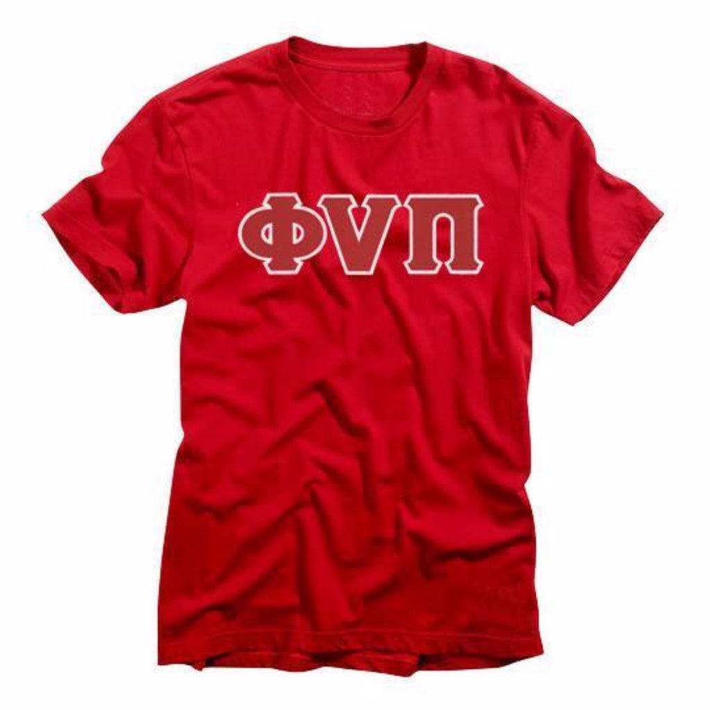 Kappa Alpha Psi Old Skool Phi Nu Pi 3-Letter Tee (Red or Black)