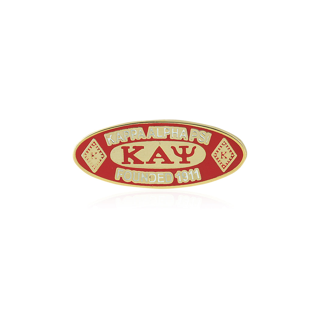 Kappa Alpha Psi Oval Founded 1911 Lapel Pin