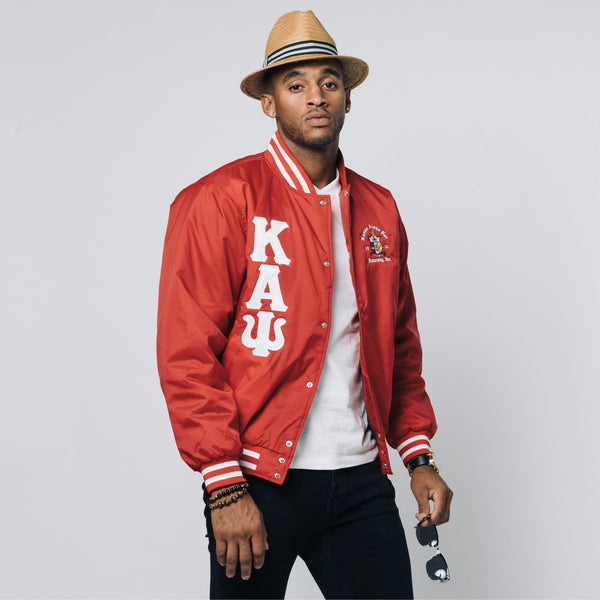 Kappa Alpha Psi Baseball Jacket (Red)