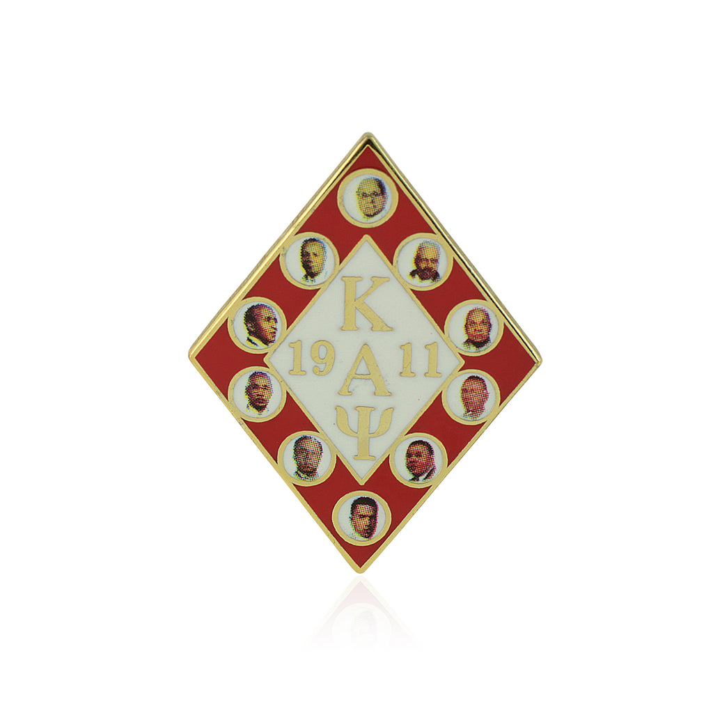 Kappa Alpha Psi Founders Lapel Pin Diamond