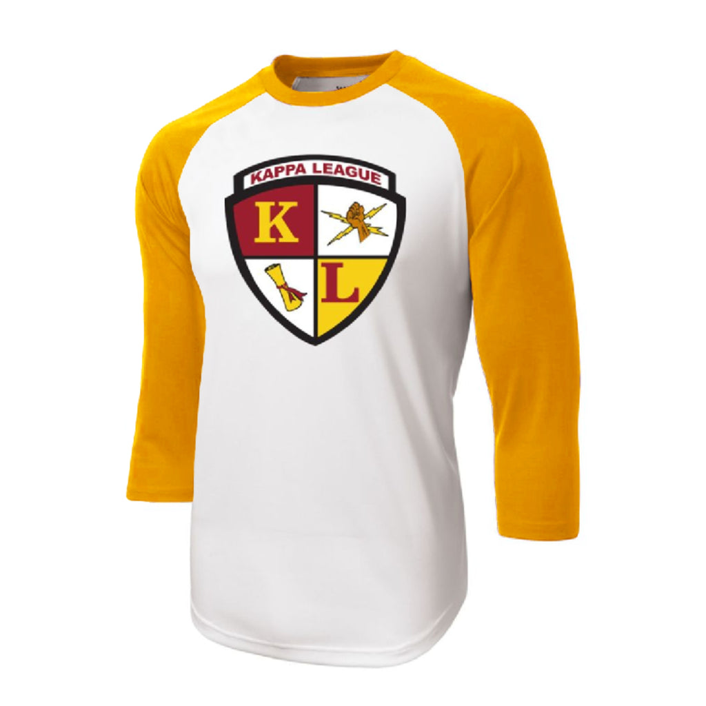 Kappa League Crest Baseball Tee (Gold)
