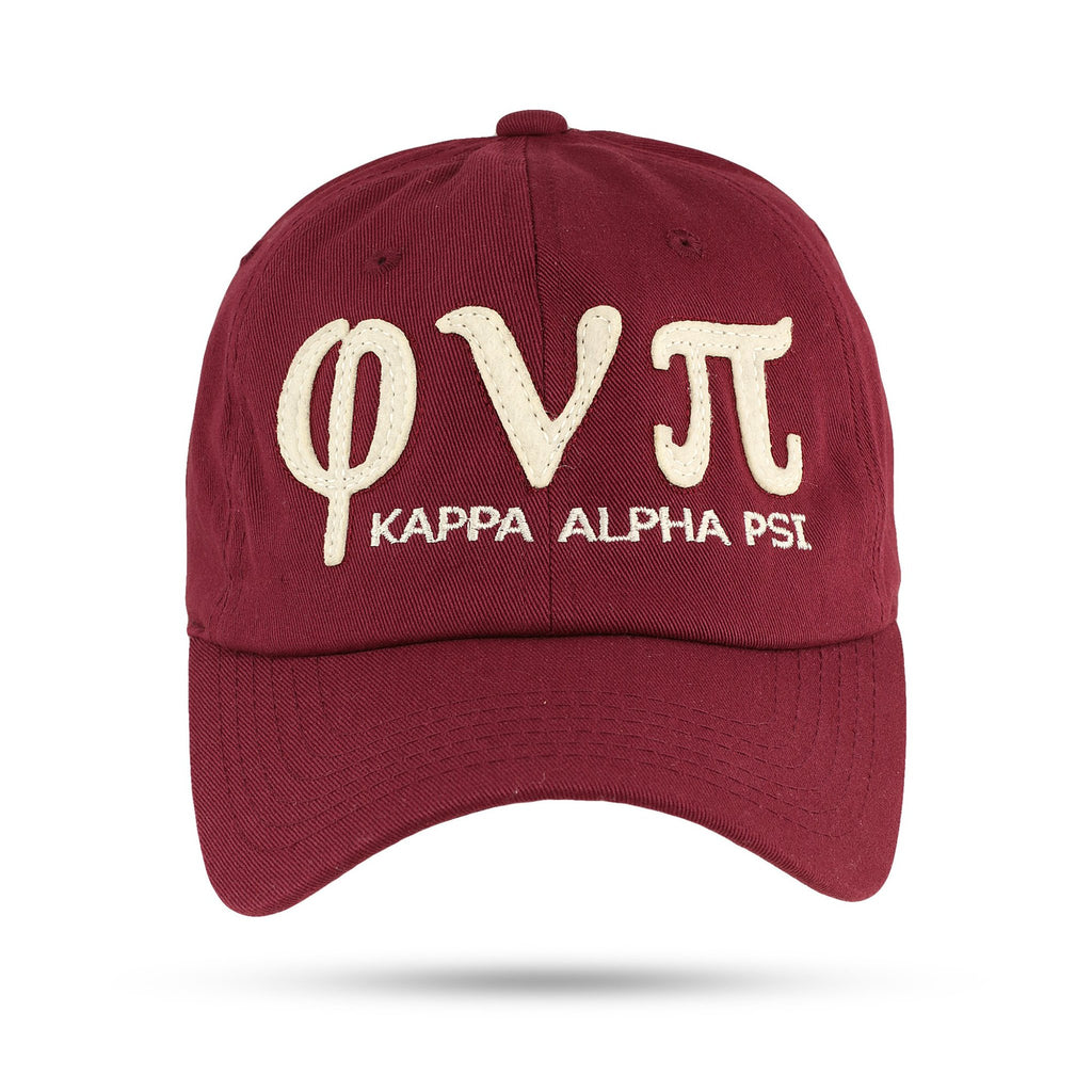 Kappa Alpha Psi Phi Nu Pi Adjustable Dad Cap (Krimson or Cream)