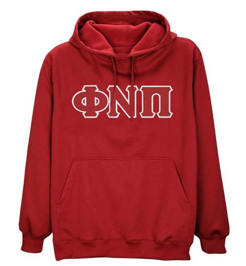 Kappa Alpha Psi Phi Nu Pi 3-Letter Pullover Hoodie (Red)