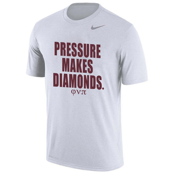 Kappa Alpha Psi Pressure Makes Diamond NIKE DriFit Tee (White)