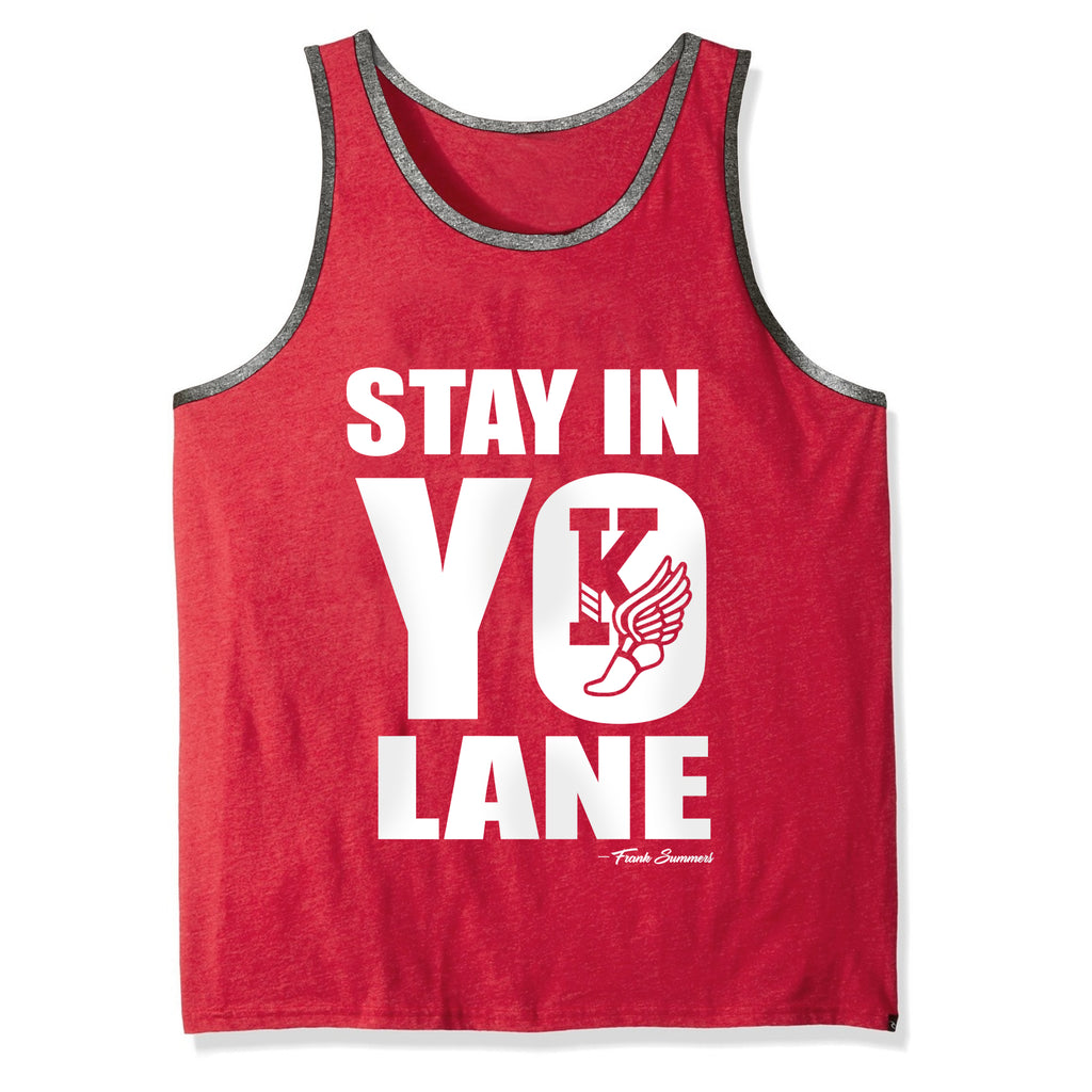 Kappa Alpha Psi Stay In YO Lane Ringer Tank Top