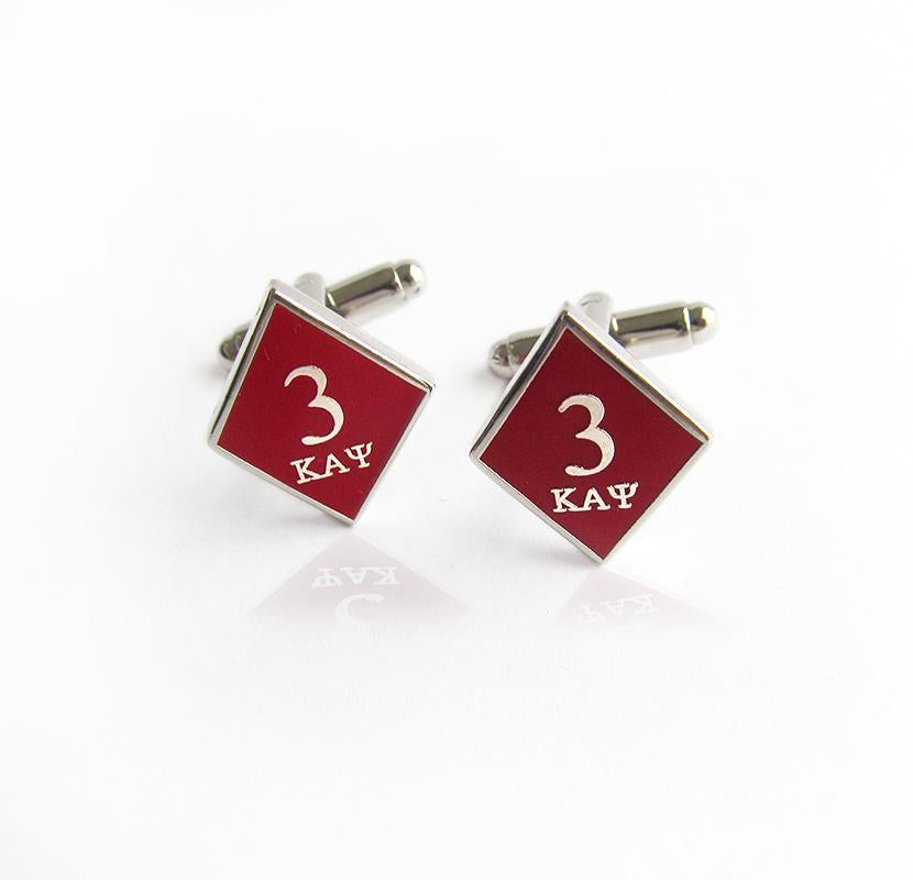 Kappa Alpha Psi Tre Klub Diamond Cufflinks
