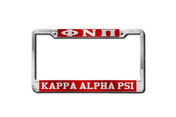 Kappa Alpha Psi Phi Nu Pi - KAPsi License Plate Frame (Red or Silver)