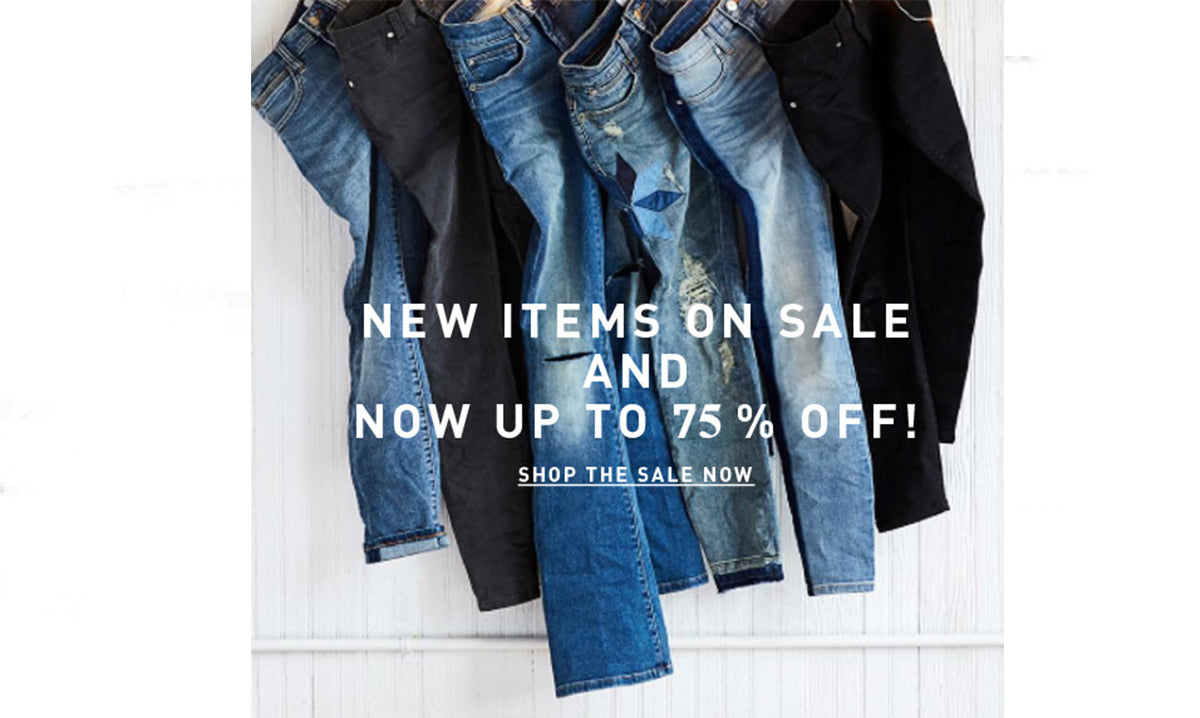 Up to 75% off sitewide. Shop the sale now.