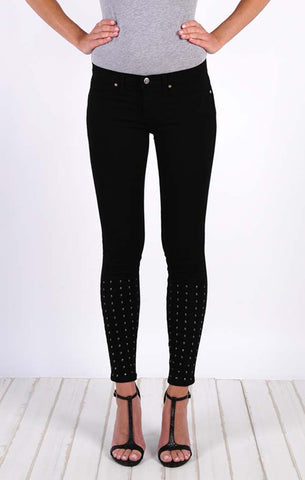 Studded Super Skinny Ankle - Pitch