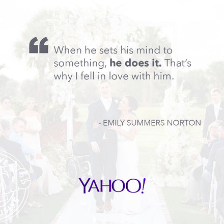 Yahoo! Sports Features the Official 7 Yards Trailer and Chris + Emily's Story!
