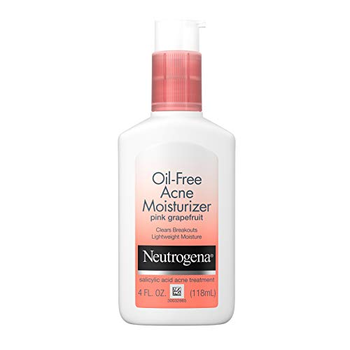 Neutrogena Oil-Free Acne Facial Moisturizer, Pink Grapefruit, 4oz