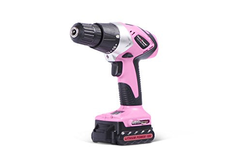 Pink Power 18-Volt Lithium-Ion Cordless Electric Drill Driver and Screwdriver Kit