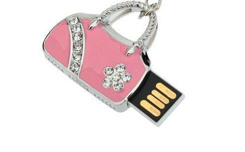 Handbag Shaped 4GB to 64GB Cool USB High Speed Flash Drive  (4 colors) - Pink and Caboodle