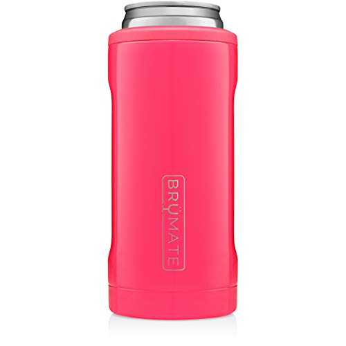 Neon Pink BrüMate Hopsulator Insulated Can Cooler for 12oz Slim Cans  (30 colors)