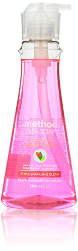Method Naturally Derived Dish Soap Pump, Pink Grapefruit, 18 Ounce (6 Count)