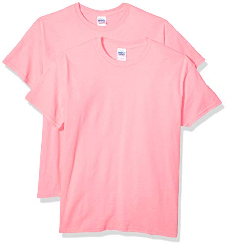 Gildan Men's Ultra Cotton Safety Pink Adult T-Shirt, 2-Pack