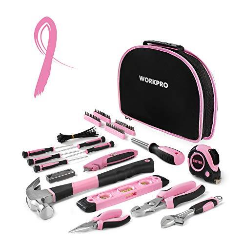 103-Pc Pink & Black Ladies Tool Set Kit w/Carrying Pouch - Pink and Caboodle
