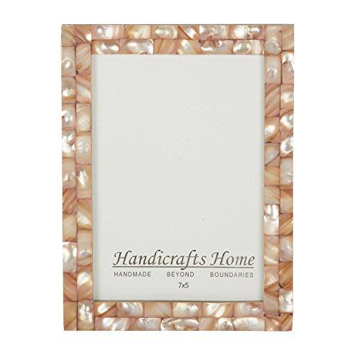 Chic Pink Mother of Pearl Handmade Vintage 5x7 Picture Frame