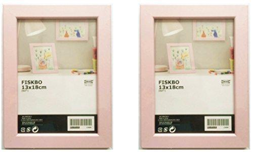 IKEA FISKBO 5 x 7 Picture Frame - Set of Two - Pink and Caboodle