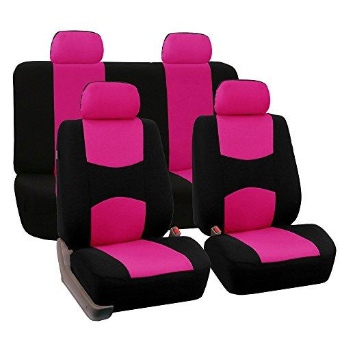 Universal Fit Pink & Black Design Full Set Seat Covers - Pink and Caboodle