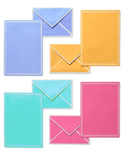 80-Count Pastels American Greetings Blank Stationery Sheets and Envelopes