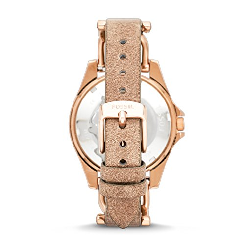 Fossil Women's Riley Quartz Rose Gold Leather Multifunction Watch