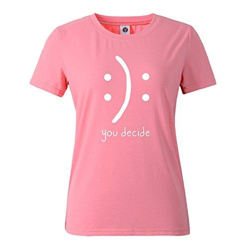 You Decide Casual Funny Pink T-Shirt Top - Pink and Caboodle