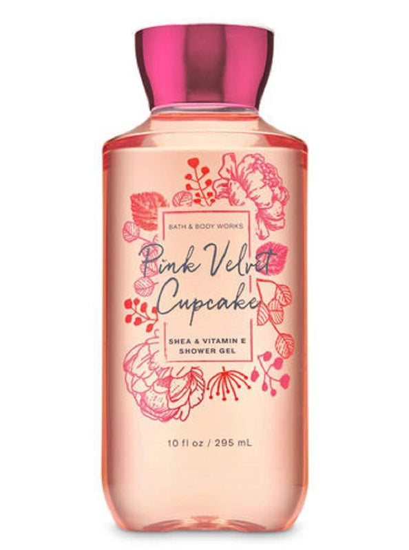 Bath and Body Works Pink Velvet Cupcake Shower Gel Wash - 10oz - Pink and Caboodle