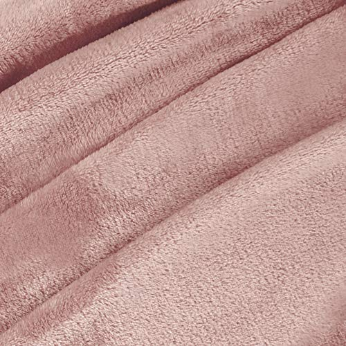 "Exclusivo Mezcla Luxury Flannel Velvet Plush Throw Blanket – 50"" x 60"" (Pink) - Pink and Caboodle"
