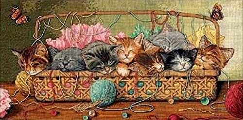 Dimensions Needlecrafts Counted Cross Stitch, Kitty Litter