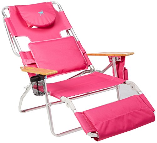 Ostrich Deluxe Padded Sport 3-in-1 Aluminum Beach Chair  (5 colors)