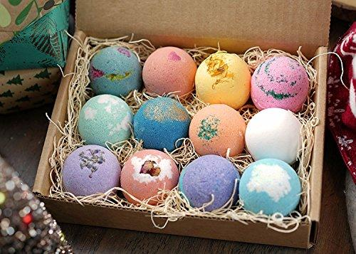 12-Pc Shea & Cocoa Butter Moisturizing Bath Bombs Gift Set - Pink and Caboodle