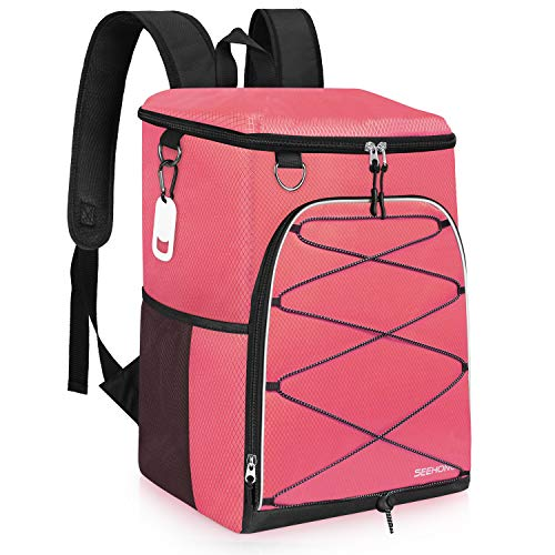 Seehonor Insulated Lightweight Cooler Backpack for 25 Cans  (4 colors)